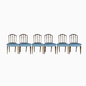 Chaises de Salon en Acajou Vintage, Set de 6
