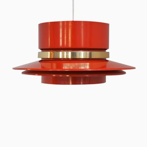 Lampada a sospensione arancione di Carl Thore per Granhaga Metal Industri, anni '60