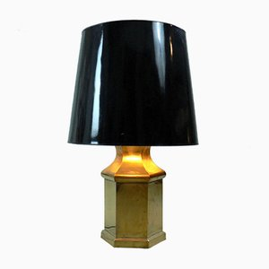 Lampe de Table Vintage en Laiton, 1970s