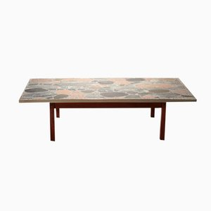 Großer Tisch aus Stein & Messing von Torbjörn Afdal, 1960er