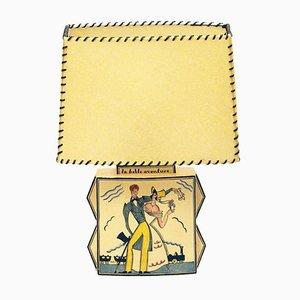 Tischlampe von Robert Lallemant, 1920er