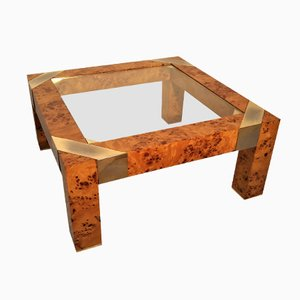 Burl Coffee Table by Milo Baughman, 1970s