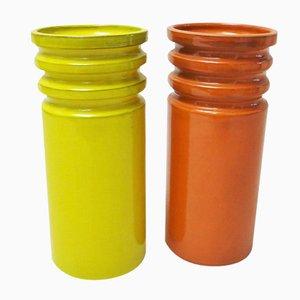 Italian Ceramic Vases from Sicart, 1970s, Set of 2