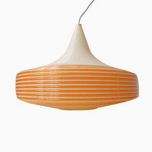 Lámpara colgante Mid-Century en forma de platillo de Heifetz Rotaflex, años 60