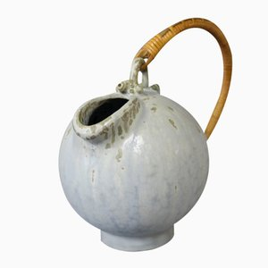 Ceramic Jug with a Paper Cord Handle by Arne Bang, 1960s