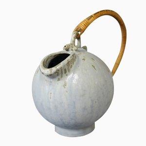 Jarra de cerámica con asa de cuerda de papel de Arne Bang, años 60