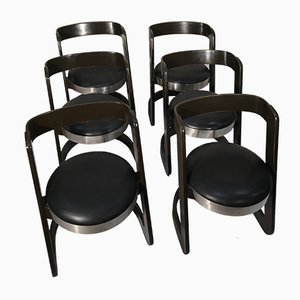 Vintage Esszimmerstühle von Willy Rizzo für Mario Sabot, 1970er, 6er Set