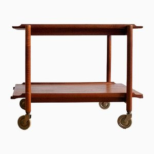 Mid-Century Extendable Serving Cart by Poul Hundevad for Hundevad & Co.