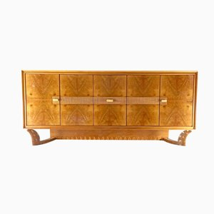 Walnut and Oak Sideboard by Osvaldo Borsani, 1940s