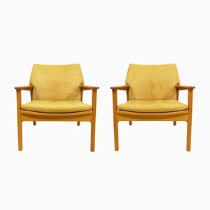 Lounge Chairs by Hans Olsen for Verner Birksholm, 1950s, Set of 2