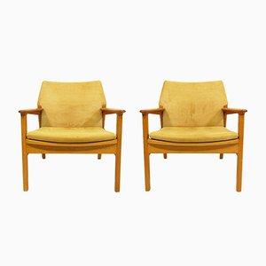 Lounge Chairs by Hans Olsen for Verner Birksholm, 1950s, Set of 2