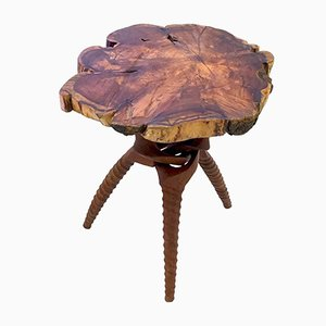 Organic Live Edge Occasional Table, 1950s