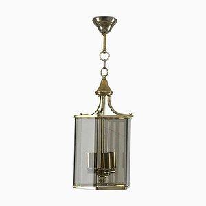 Lanterna neoclassica in vetro fumé, Francia, anni '70