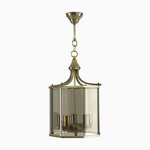 Neoclassical Smoked Glass Lantern, 1960s