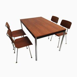 Mesa de comedor modelo 1263 y sillas de A.R. Cordemeyer para Gispen, años 60