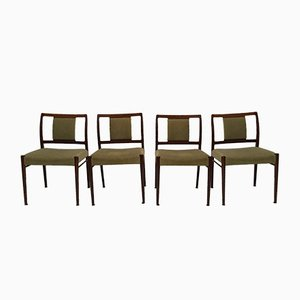 Rosewood Dining Chairs by Johannes Andersen for Uldum, 1950s, Set of 4