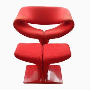Ribbon Chair avec Ottomane par Pierre Paulin pour Artifort, 1960s