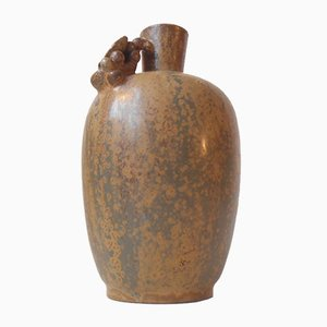 Stoneware Studio Vase by Arne Bang, 1930s