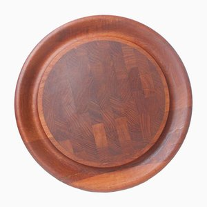 Round Teak Roast Cutting Board by Jens Harald Quistgaard, 1960s