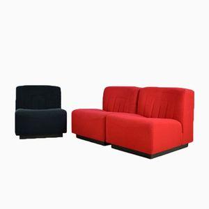 Vintage Novémila Chairs by Tito Agnoli for Arflex, Set of 3