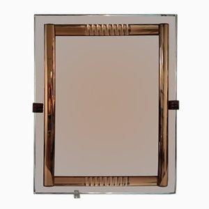 Französischer Vintage Spiegel aus Antikem Glas