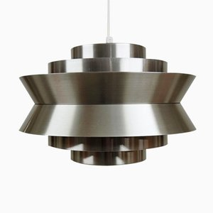 Lampada a sospensione Trava in alluminio di Carl Thore prt Granhaga Metal Industri, anni '60