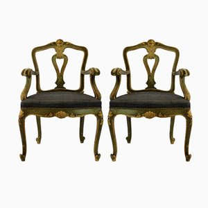 Antike Italienische Lehnstühle, 2er Set