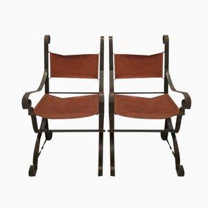 Sessel aus Eisen, 1970er, 2er Set