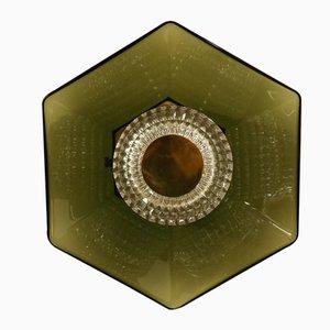 Lampada da soffitto o da parete Mid-Century in cristallo di Carl Fagerlund per Orrefors