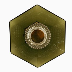 Mid-Century Crystal Ceiling or Wall Lamp by Carl Fagerlund for Orrefors