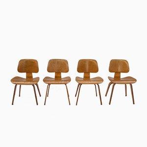 Vintage DCW Stühle von Charles & Ray Eames für Evans, 4er Set