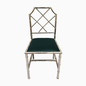 Chaise d'Appoint Mid-Century en Faux Bambou et en Chrome, 1960s
