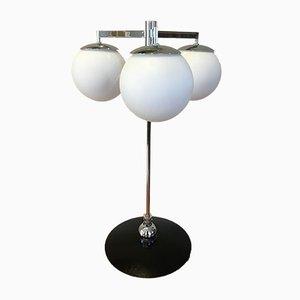 Lámpara de mesa lacada en negro metálica, años 60