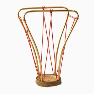 Mid-Century Italian Brass Umbrella Stand