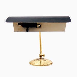 Lámpara de escritorio alemana Mid-Century de latón