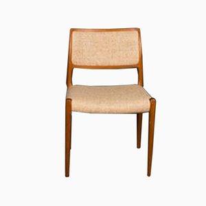 Model 80 Teak Dining Chair by Niels Otto Møller for J.L. Møllers Møbelfabrik, 1960s