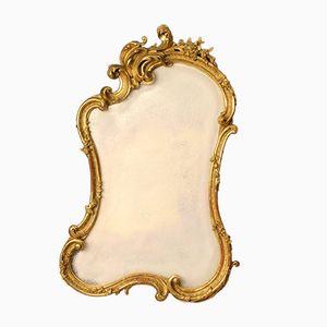 Vergoldeter Französischer Spiegel des späten 19. Jahrhunderts