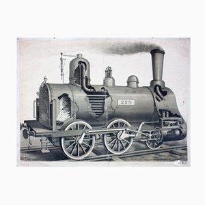 Wandschautafel einer Lokomotive, 1912