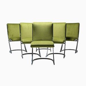 Chaises de Salon Mid-Century par Arthur Umanoff pour Chromecraft, Set de 6