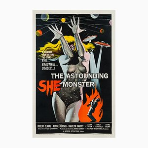 The Astounding She Monster Film Poster by Albert Kallis, 1958