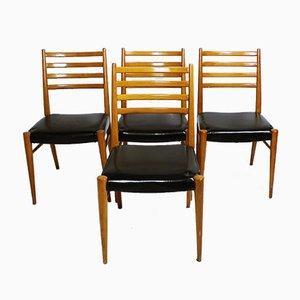 Österreichische Stühle von Wiesner-Hager, 1950er, 4er Set