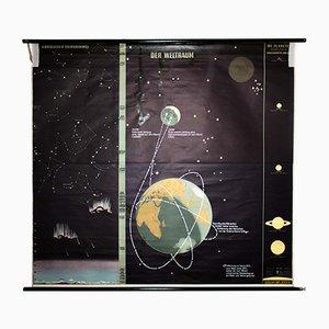Große Universum Schulwandkarte von Dr. Jensen, 1967