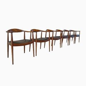 Fauteuils The Chair 503 par Hans J. Wegner pour Johannes Hansen, Set de 6