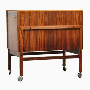 Danish Rosewood Bar Cart from Arrebo Møbler, 1960s