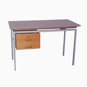 Vintage Schreibtisch mit Formica Tischplatte und Schubladen aus Holz