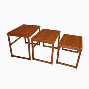Tables Gigognes Vintage en Teck par Swante Skogh pour Seffle Möbelfabrik AB, Suède