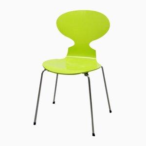 Sedia Ant 3101 verde primaverile di Arne Jacobsen per Fritz Hansen, anni '50