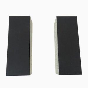 Luces de pared cúbicas, años 60. Juego de 2