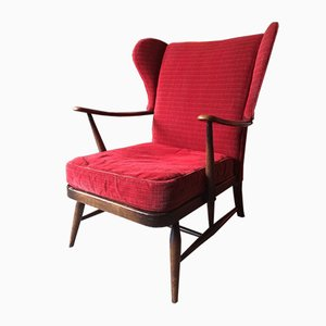 Mid-Century Wing Back Armchair from Ercol, 1950s