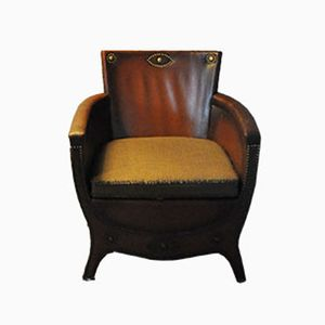 Vintage Leather Lounge Chair by Otto Schulz, 1930s